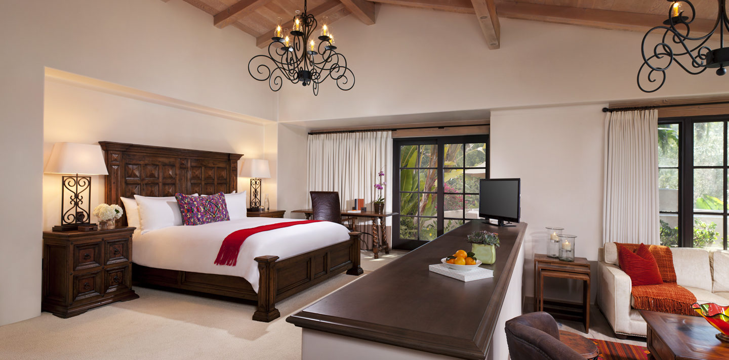 Olive Grove and Agave King bedroom area at Rancho Valencia resort in San Diego