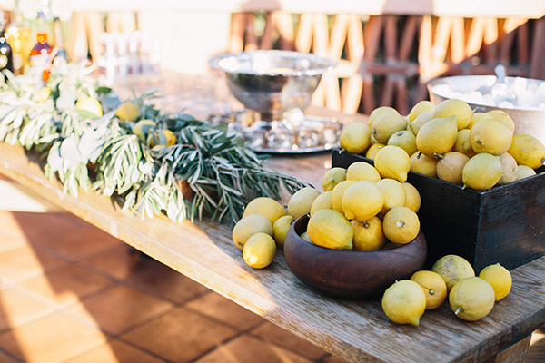Lemons freshly picked from groves at our Rancho Santa Fe resort and spa